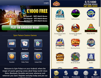best mobile casinos spin palace